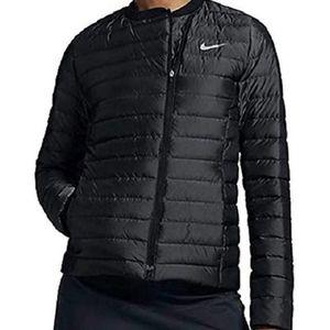 Nike Asymmetrical Grey Down Golf Puffer Coat